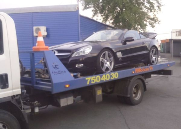 Эвакуация Mercedes-Benz