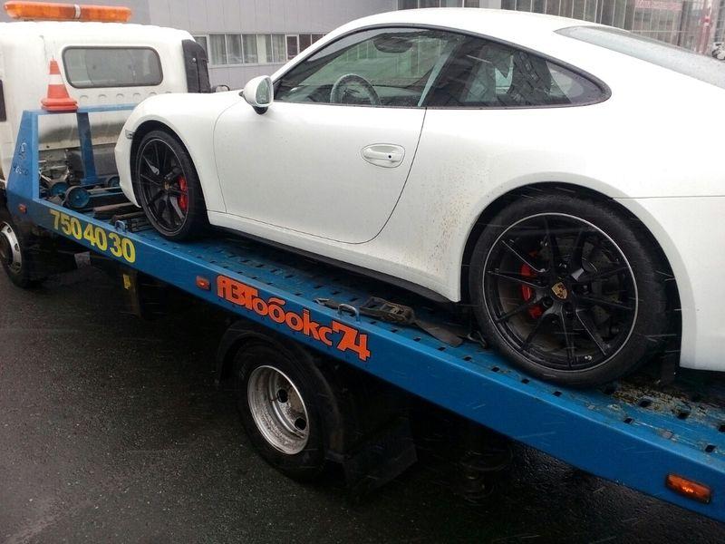 эвакуация Porsche
