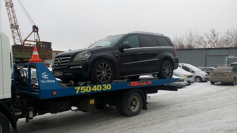 Эвакуация  Mercedes GL